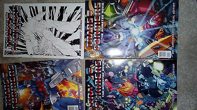 Transformers: The Animated Movie Comics IDW Issues 1-4