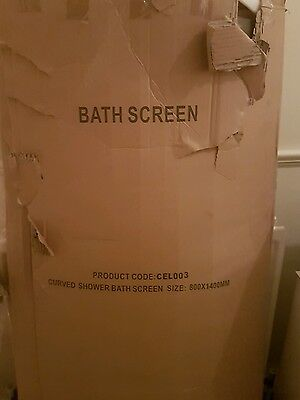 Curved shower screen Brand new still in box comes with all the fittings