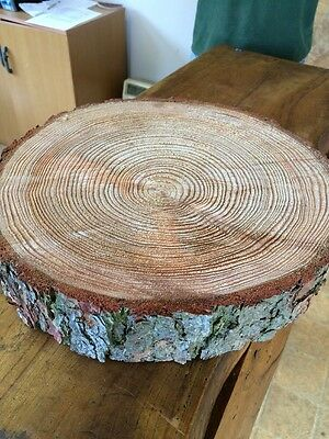"15"" Wooden wedding cake stand,  Rustic Log slice, Centre Piece"