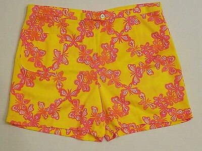 Vintage 70s Womens LILLY Pulitzer BUTTERFLY Shorts