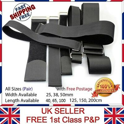 2 x Quality Velcro Adjustable Straps Luggage Width 25,38,50mm Length 40-200 cm