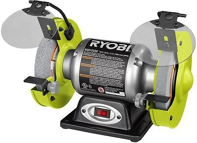 New Ryobi Stationary Bench Grinder Power Tool 2.1 Amp 6 Grinding Wheel Included