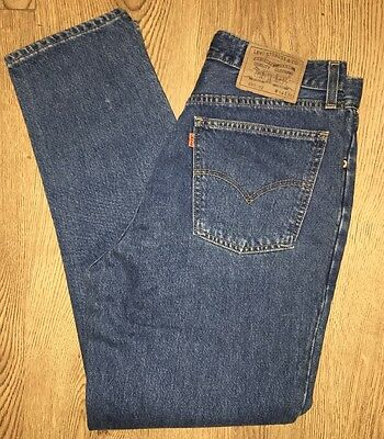 Vintage Levis 891 Orange Tab Straight Tapered Blue Mom High Button W32 L30