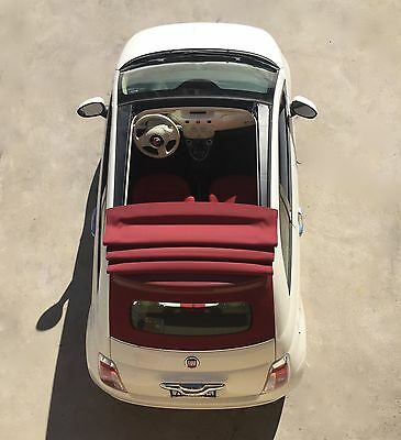 2015 Fiat 500 c Pop Cabrio 2015 FIAT 500c CONVERTIBLE PEARL WHITE & RED TOP! 4-YEAR WARRANTY, BlueTooth