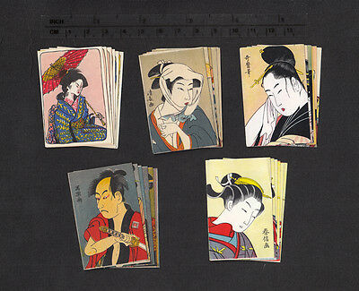 5 Series of Old Japanese matchbox labels 2.