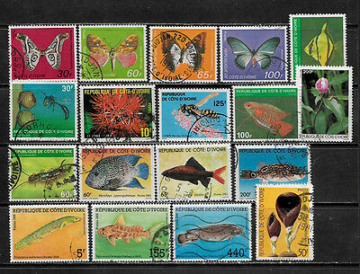 [X-122] Ivory Coast Small Lot of Postally Used Stamps