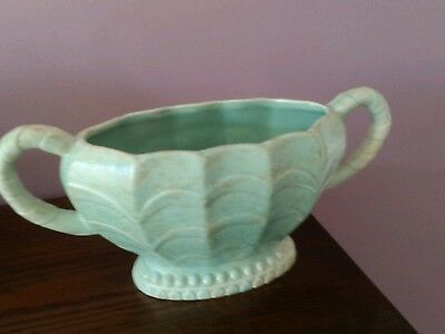Price Brothers mottled green planter. Surrey pattern.