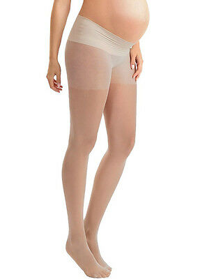 Blanqi - Sheer Low Rise Belly Support Band Pantyhose in Nude
