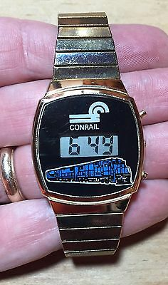 Vintage Conrail (CRR) Logo Digital Wrist Watch - Tested - Includes Battery