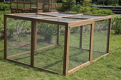 Large Chicken Coop Hen house Chook Hutch Cage Extension Run 200*160*100cm