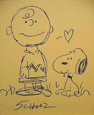 Charles Schulz, original, peanuts,Snoopy, drawing, painting,art, signed, Charlie