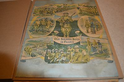 Vintage  WW1 Lithograph Poster 1918 James Lee Soldiers In France no. 10.015