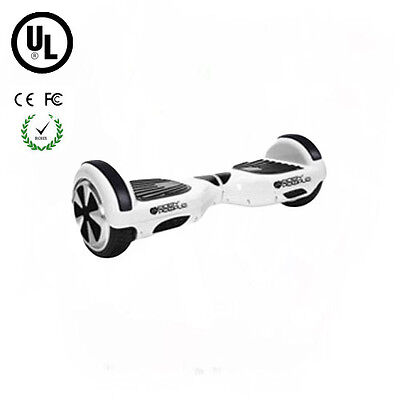 Easy People 2 Wheel Bluetooth + Speakers Motorized Scooter hoover Board White UL