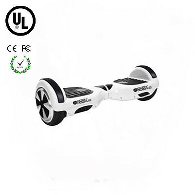 Easy People Two Wheel Electric Motorized Balancing Scooter hoover Board White UL