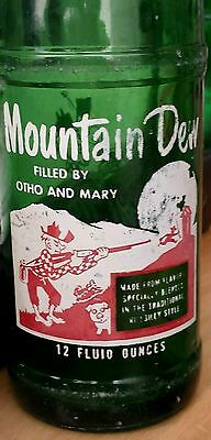 1965 Mountain Dew bottle: Filled by Otho and Mary