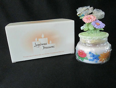 Avon Exclusive Summertime Delight Collectible Candle Jar and Topper