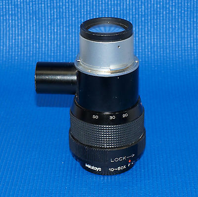 Mitutoyo P Zoom Hexanon 10-50X Optical Comparator Lens Pj