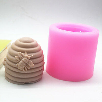 New 3D Creative Screw Bee Hive Handmade Candle Soap Mould Silicone Resin Mold