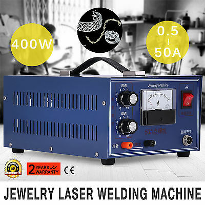 Jewelry Laser Welding Machine Pulse Sparkle Spot Welder 400W 110V Handheld
