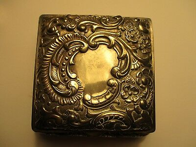 Meriden Wilcox Silverplate Co Quadruple Trinket Box