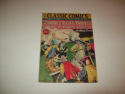 Classic Comics #24 Rare Double Cover Golden Age VG+ condition Connecticut Yank