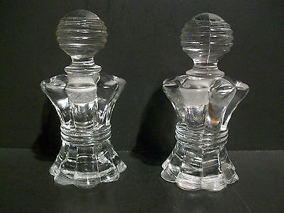 Bottles W/ Glass Stoppers (Pair) Matching
