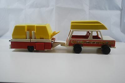 Vintage 1979 Fisher Price Jeep & Tent Trailer/camper Toys