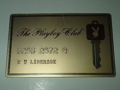 Super Rare! One of a Kind!  Liberace's actual Playboy Club Card - Genuine