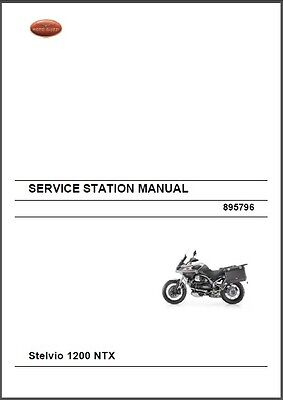 Moto Guzzi Stelvio 1200 NTX / Stelvio 1200 NTX ABS Service Manual on a CD