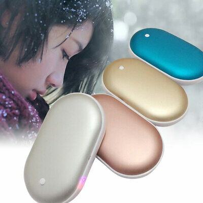 5000mAh Hand Warmer USB Charger Electric Pocket Heater Rechargeable Power Bank