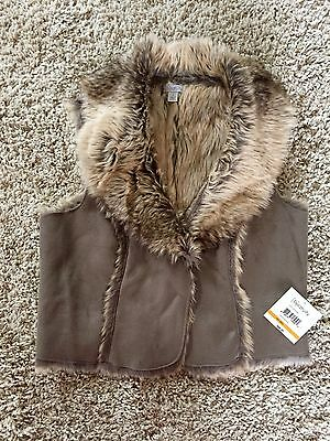 Relativity Women's Brown Faux Fur Vest. Size S. New With Tags. $66