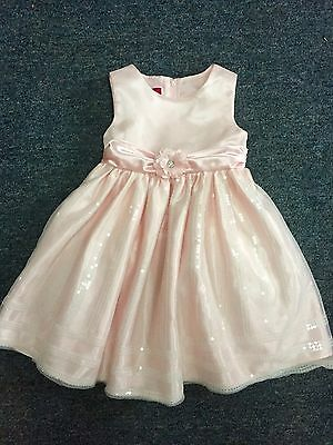 Princess Faith Toddler Girls Pink Special Occassion Dress. Size 3/3T