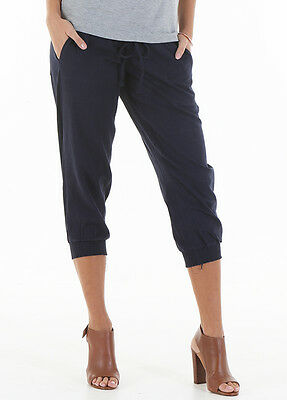 NEW - Trimester™ - Zackary Navy Linen Maternity Pants - Pregnancy Wear