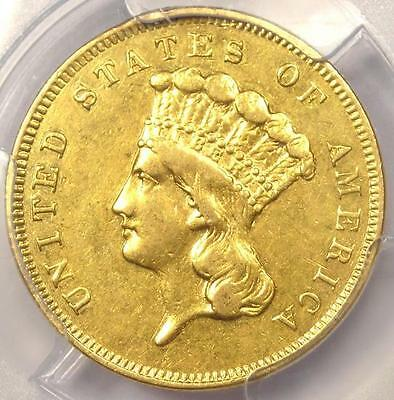 1856-S Three Dollar Indian Gold Piece $3 - PCGS AU Details - Rare Certified Coin