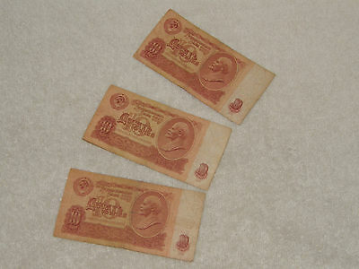 Original Soviet Union banknotes Russian Currency Uncirculate Money CCCP USSR 10
