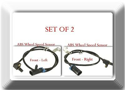 Set of 2 ABS Wheel Speed Sensor Front Left & Right Fits: Cadillac Chevrolet GMC