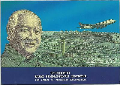 1993 INDONESIA  50000 Rupiah Polymer P-133 (with folder)