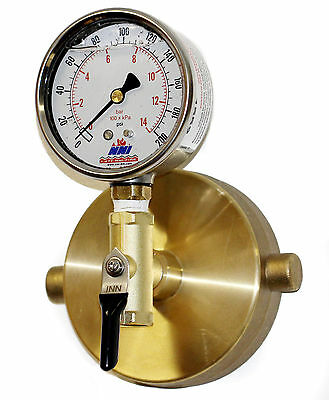 """2-1/2"""" NST Fire Hydrant Static Pressure Gauge with Bleeder valve 300Psi"""