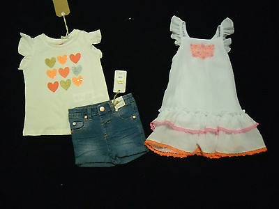Nwt Girls Clothing Outfit Size 2 Summer Wear Dress Shorts Topsall New
