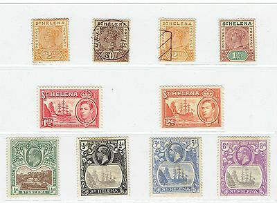 St Helena Early Stamp Set Some Used Different Period