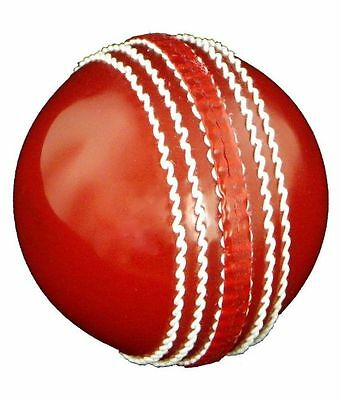1 Red Cricket Ball - Leather For 50 Overs