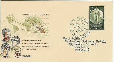 1962 5d. 'Country Women' WCS first day cover - See details