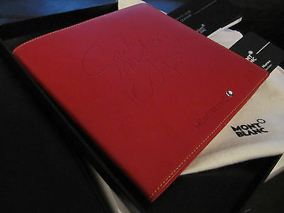 Montblanc special 100y edition  red leather Note Pad 6.5x6.5 ''