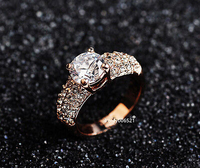 Genuine Rose Gold 1.25 ct Engagement Eternity Ring size 8