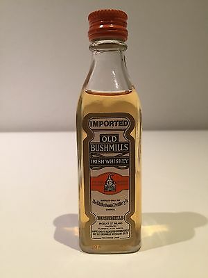 Old Bushmills Irish Whiskey Miniature Rare Circa Late 1970's - Early 1980's