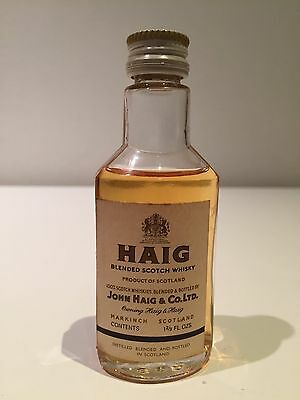 Haig Whisky Early 1960's Scotch Whisky Miniature - Rare