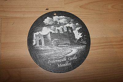 welsh slate wall coaster castle oystermouth 16cm diameter