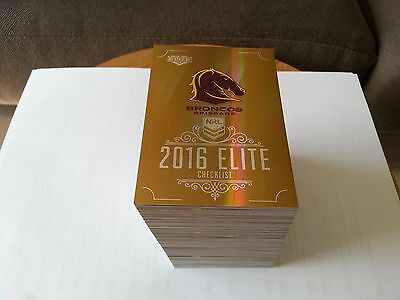 NRL 2016 Elite Gold Parallel full set of 192 cards