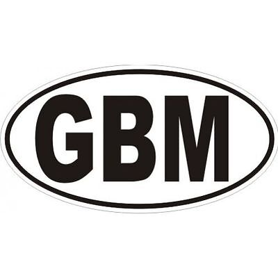 3 D Gbm- Isle Of Man Sticker Oval Country Code Logo Badge Motorcycle Car  Laptop