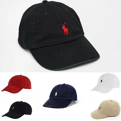 BNWT Ralph Lauren Polo Pony Cotton Baseball Cap Adjustable Strap Hat One Size